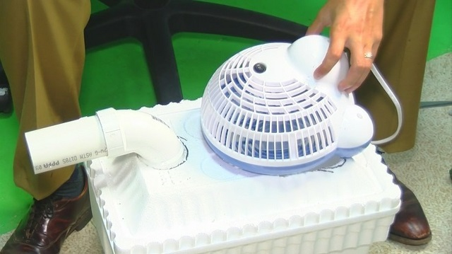 Homemade air conditioners give some relief from summer heat
