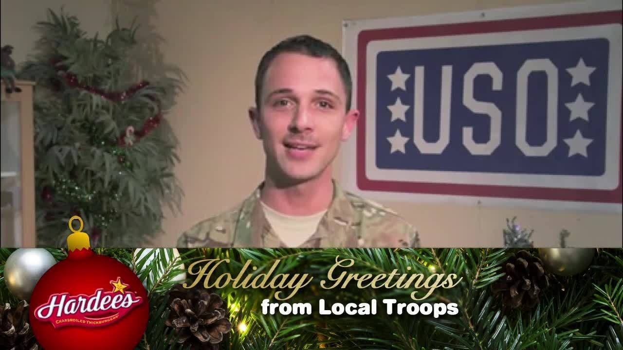 Holiday Greetings From Local Troops Tech Sargeant Christopher