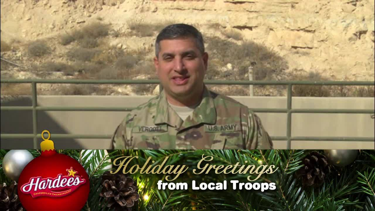 Holiday Greetings From Local Troops Major Sean Vergott Wric