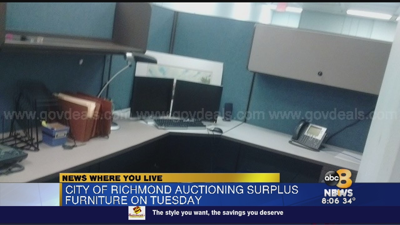City Of Richmond Auctioning Off Surplus Furniture   WRIC