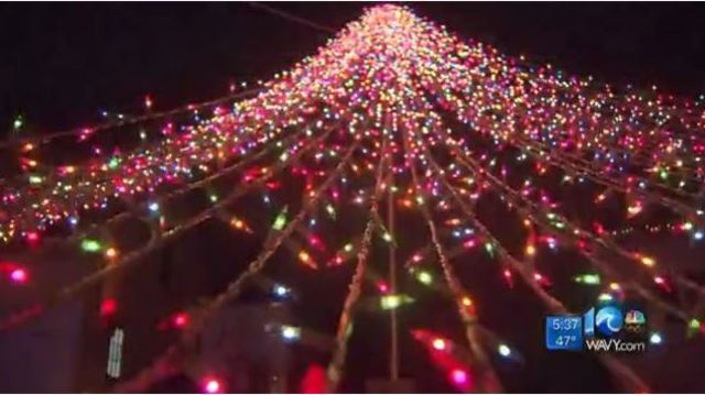 virginia beach teen lights up city with 30000 christmas lights for a purpose - Virginia Beach Christmas Lights