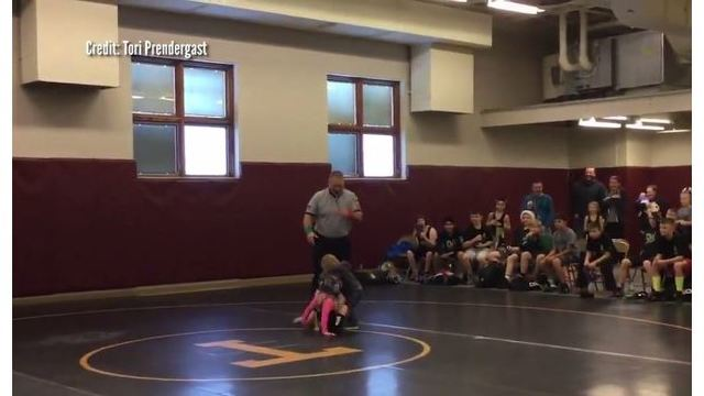 VIDEO: Little boy tries to rescue sister during her wrestling match