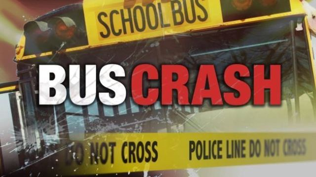 Cemetery damaged in school bus crash