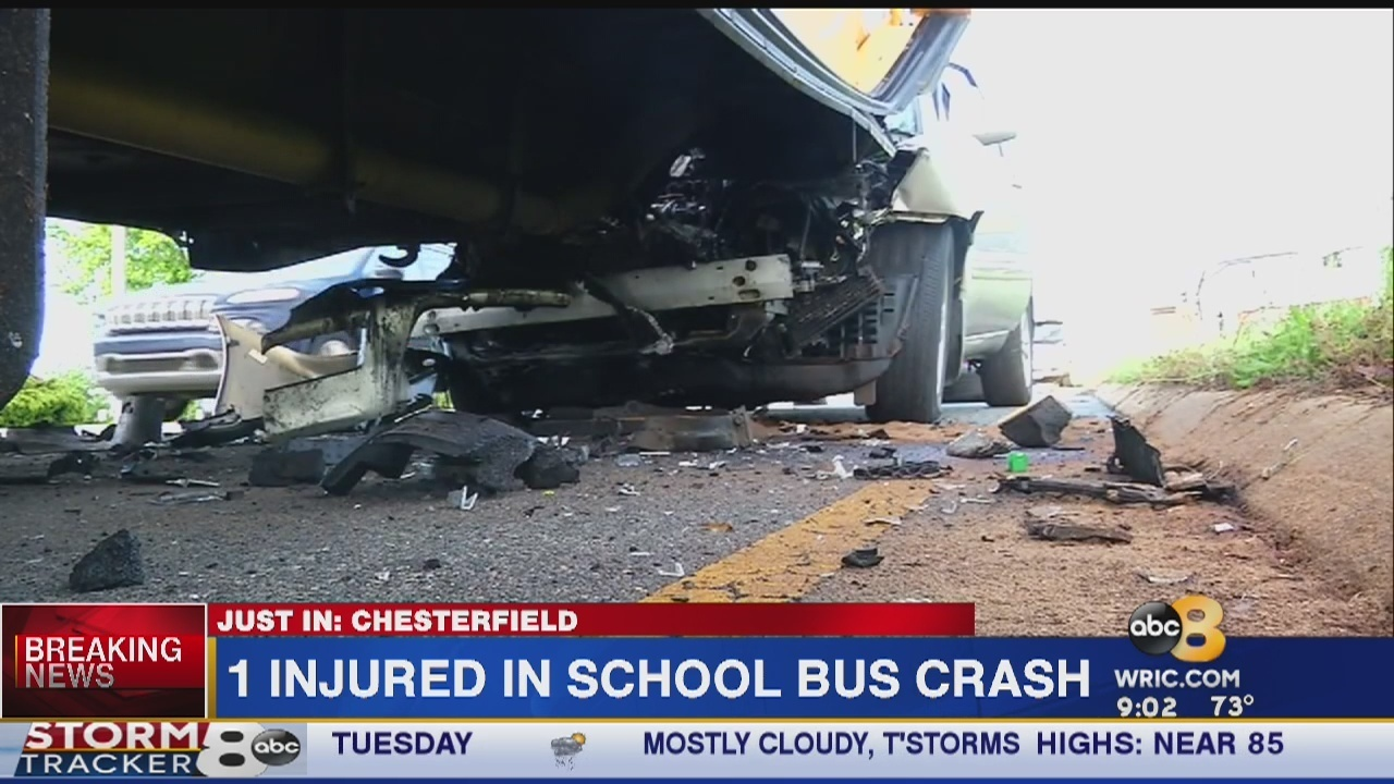Chesterfield County school bus involved in crash on Hull Street Road