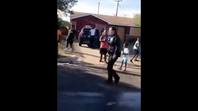 Video of officer being squirted with squirt gun goes viral