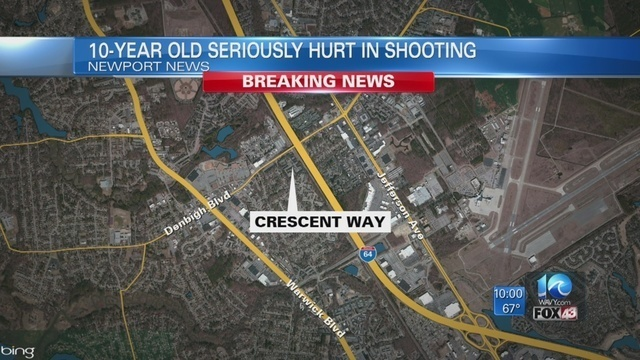 10-year-old boy seriously hurt, man injured in shooting in Newport News