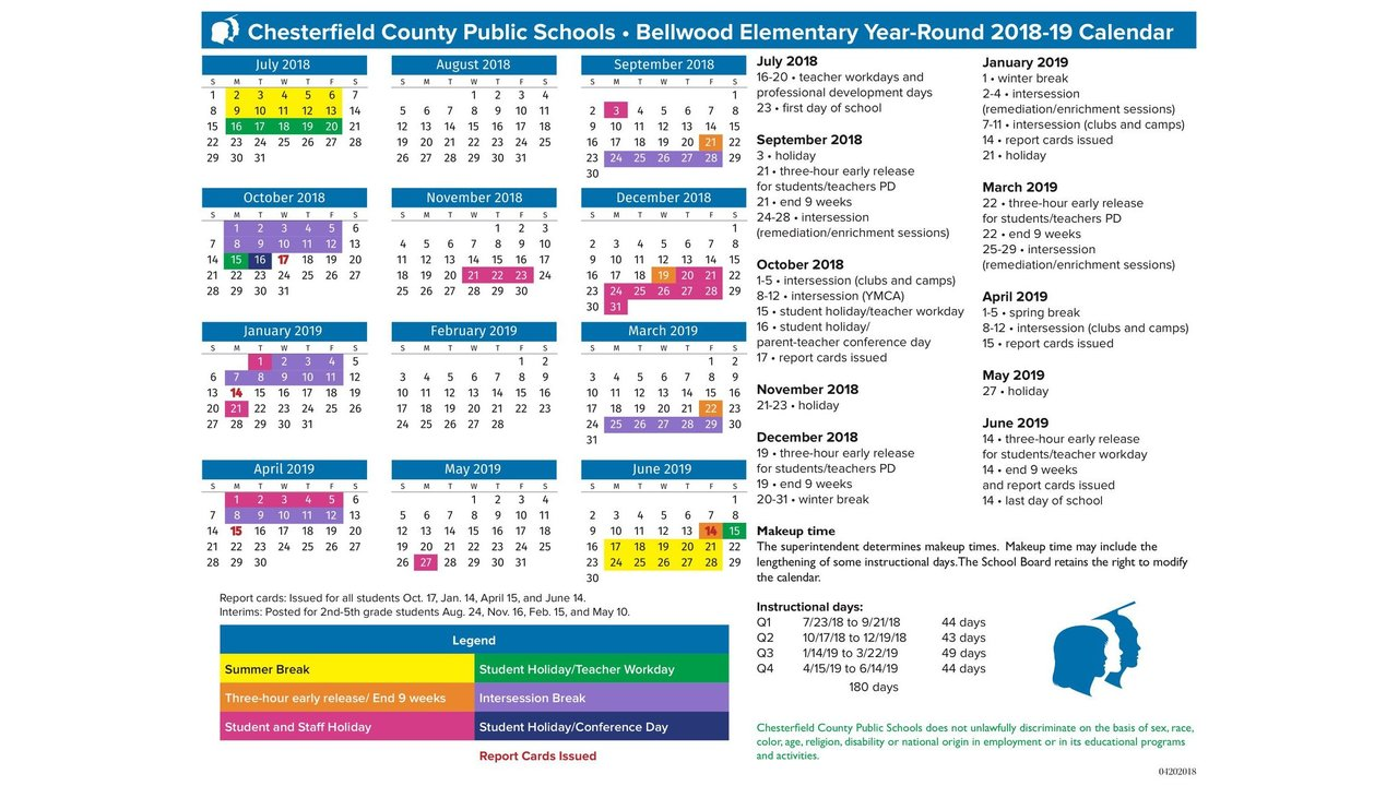Chesterfield Public Schools Releases Bellwood Es 2018 19 Year Round