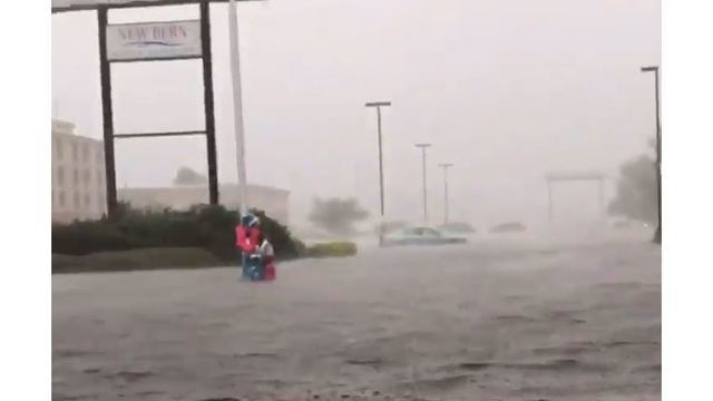 150 people waiting to be rescued in New Bern, NC as flood waters cover the city