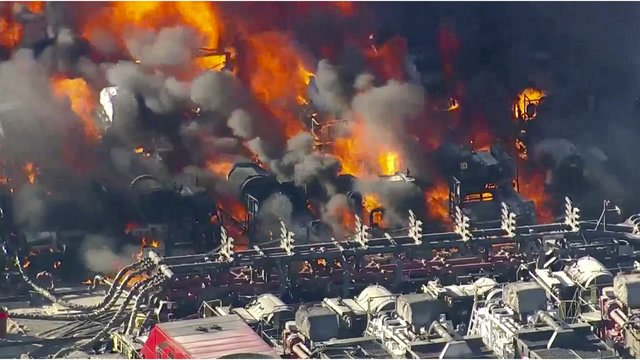 Fuel burns near Colorado oil well site; no injuries reported