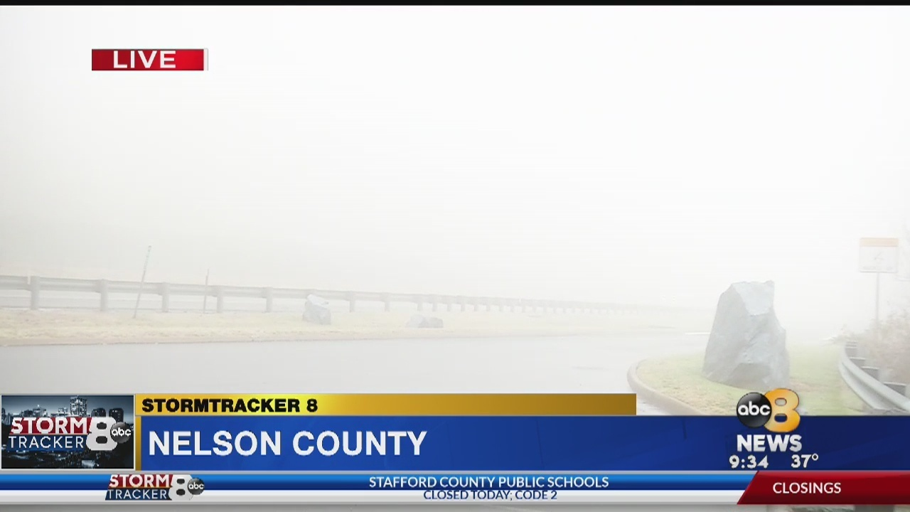 StormTracker 8: Live report at 9:30 a m  from Nelson County