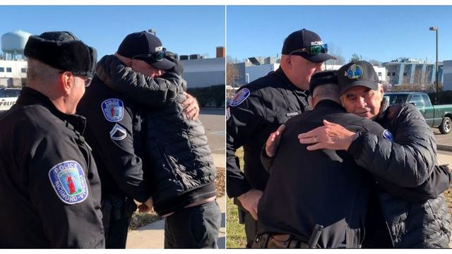 Positively Richmond: Man stops by police station to thank officers for saving his life
