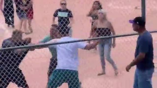 VIDEO: Brawl breaks out at youth baseball game